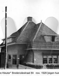 De Kleuter (eigen huis), Brederodestraat 89, November 1928