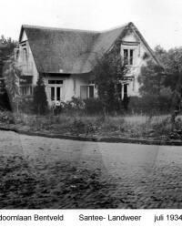 Duindoornlaan Bentveld, Santee - Landweer, juli 1934